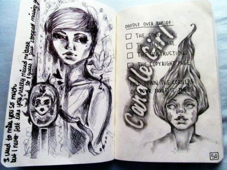 Wreck This Journal Page 50 by TurnAwaySvn