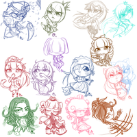 Chibi sketch dump by OMGProductions