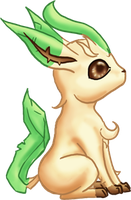 CUTE Leafeon by dragowlfly