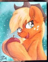 Applejack Painting by VictoryDanceOfficial