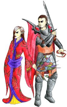 Queen Chaos and Skyhold General Lowen by Doofus-the-Cool