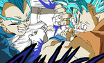 Dragon Ball Super Chapter 7 Goku vs Vegeta by PikachuStar93