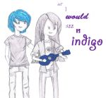 All I would see is indigo - Tom Milsom by EternalBeautyTrueArt