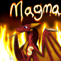 Magma Doodley by SolarPaintDragon