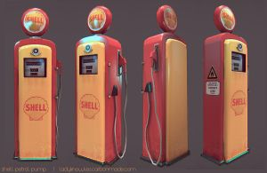 Shell Petrol Pump by teenagephoenix
