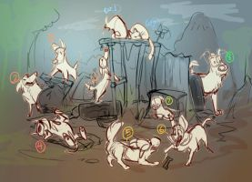 junkyard dogs YCH (CLOSED) by Colonels-Corner