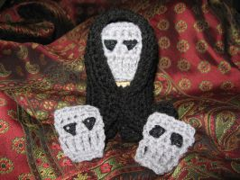 Amigurumi Death Eater, Masks by WireMySoul