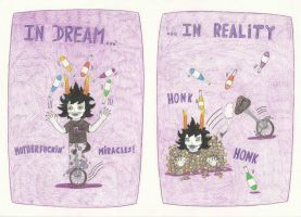 Dream and Reality : Gamzee Version by HonkingMaster