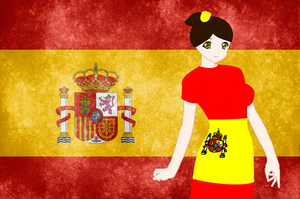 HM CSF Spain flag background by ABtheButterfly