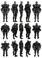 Mass Effect 3, MP Batarian Soldier - Blade Armour. by Troodon80