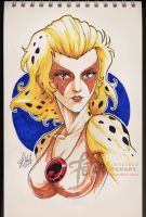 COPIC sketch 24 CHEETARAH by FranciscoETCHART