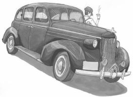 1937 Oldsmodile mobster car by alittlequeer