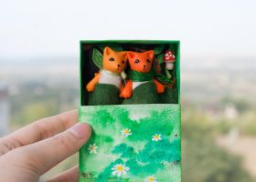 pair of foxes by freedragonfly