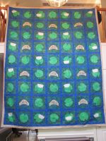 Queen Size Lily Pad Quilt by quiltoni