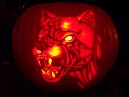Hell Hound Pumpkin by plushunicorn