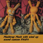 FNAF4 Plushtrap Plushie with wind up music box by AshleyFluttershy