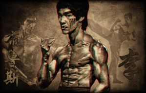 3D Bruce Lee by Geosammy