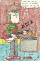 A Boy And His Red Guitar by gretzelboy89