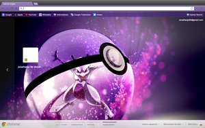 Chrome/Firefox theme - Mewtwo into a Pokeball by Jonathanjo