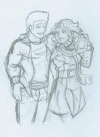 Clintasha Sketch by Nickyparsonavenger