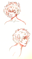 just some karkat busts by DragonBrush95
