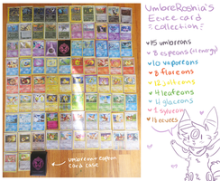 My eevee card collection (large file) by UmbreRoshia