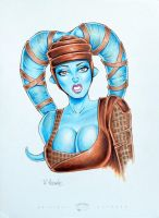 Aayla Secura in Copics by RichardHuante