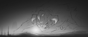 Beast sketch by MLeth