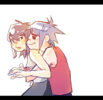 Noodle x 2D by mewDoubled