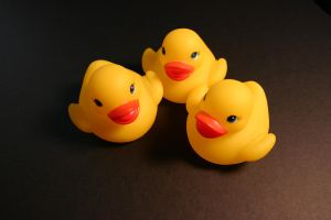 Rubber Duckie Siblings by Della-Stock