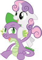 Sweetie Belle x Spike by Fiftyniner