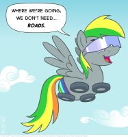 Wheely Bopper doesn't need... ROADS. by KTurtle