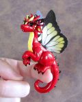 Red Butterfly Dragon by DragonsAndBeasties
