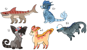 Sea-themed batch adopts -All closed- by FittaKuk