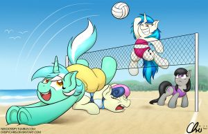 MLP Xtream Beach Volleyball by NekoCrispy