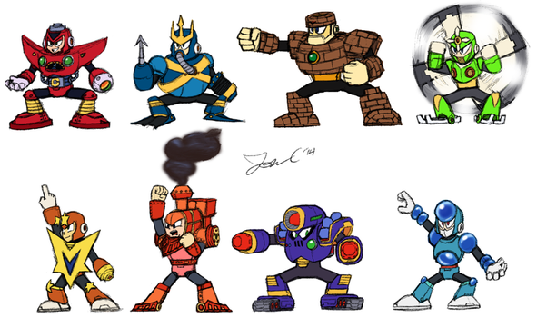 Robot Masters Sketch - MM5 by JonCausith