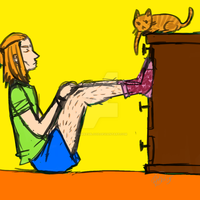 Anders n' Cat Socks by Hawkesblood