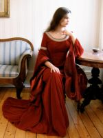 Arwen's Cranberry Gown by Farothiel