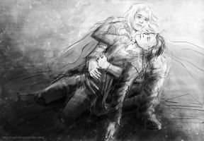 Thor and Loki - farewell by CyannFanArt
