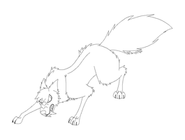 Snarling Wolf Lineart (free to use) by firefairy56