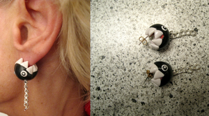 Chain Chomp Lobe Bite Earrings by Kexita