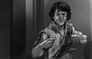 jackie chan by DarrenGeers