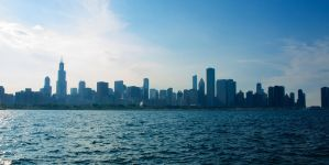 Chicago Skyline by AquarianPhotography