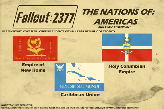 Flags of Fallout 2377 Americas Nations pt.2 by lordelpresidente