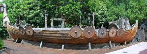 Epcot Norway Viking Ship Stock by AreteStock
