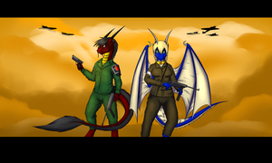 Dragons of Honor (commison) by Tomek1000
