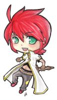Luke fon Fabre Chibi by Crimsonlily434