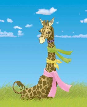 Giraffe color test by louisefournier