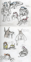 More TMNT 2012 sketches by queenbean3