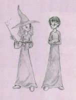 Harry and Hermione by squizzlenut